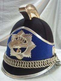 Dutch ceremonial police helmet from the guard of honour. Nederlandse Rijkspolitie helm van de Ere- escorte. bijvoorbeeld bij Prinsjes dag.