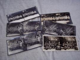 6 stereofoto's van Duitse Krijgsgevangenen met Franse soldaten uit Wereldoorlog 1. zeer nette en goede kwaliteit.