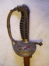 Dutch sword. Nederlands degen, Meester op sabel, Firma JW schoonman-stoel Breda, maker wkc solingen