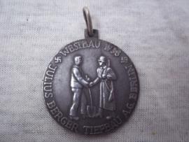 German medal Julius Berger Tiefbau A.G. Berlin - Westbau 1938, vrij aparte medaille-- LIMES ABSCHNITT KARLSRUHE.
