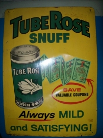 Tin public sign 42 x 60 cm Blikken reclameplaat  ScotchTube Rose snuff