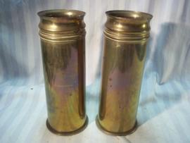 set Duitse Hulzen, te gebruiken als vaas, 1907- 1917 mooie set.