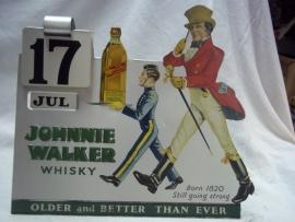 JOHNNIE WALKER kalender reclame.