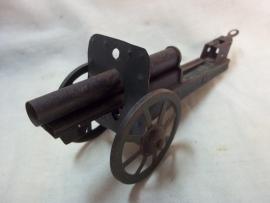 Tin Canon, marked, Blikken speelgoed kanon made in germany.