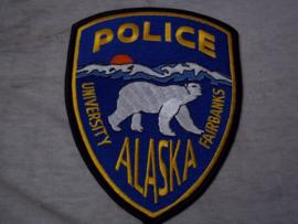 Badge embleem  POLICE ALASKA university fairbanks.