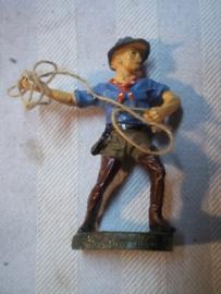 Elastolin, Durso, Lineol cowboy met lasso, goede staat