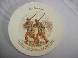 French plate Luneville, Frans reservisten bord karikatuur