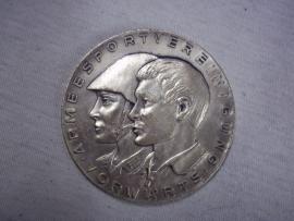 German plaque badge NVA East-Germany. Penning Armeesportvereinigung DDR  6cm