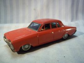 Tin toy car. Blikken speelgoed auto met frictie motor FORD TAUNUS , made in Japan, jaren 60. werkend. goede staat