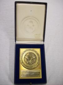 French medal Legion. Zware plaquette penning van het Vreemdelingen legioen, in originele doos ZELDZAAM