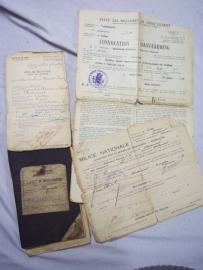 Belgium soldiers paybook 1921 Livret de mobilisation. Belgisch zakboekje met papieren. Jager te paard gebruikte staat