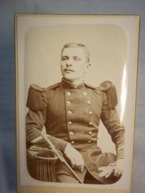 Portret foto Franse soldaat met bajonet zeer helder.