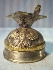 Silverplated miniature German Tsjapka. Miniatuur Tsjapka Pruisen verzilverd, zeer bijzonder.