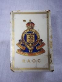 Match holder Royal Army Ordnance Corps. Luciferhouder met Engels embleem aan weerszijde