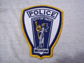 Badge, embleem POLICE MICHIGAN - City of Troy