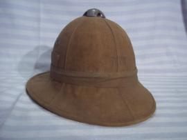 Italian pith helmet, Italiaanse tropenhelm goede staat, kurk niet kapot, stevige helm.