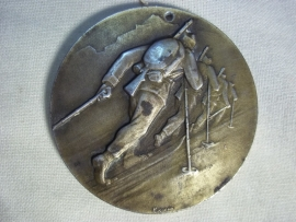 Swiss medal mountain troops 1944. Zwitserse penning 5cm, bergtroepen 1944