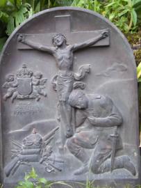 Bronzen gedenkplaat Bayern, gesigneerd brons, Liebl. Simon - München afmeting 36 bij 47 cm. UNICA. eenmalig gemaakt voor een bepaald monument of graf, zeer bijzonder.