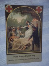 Postkaart, Duits Rode kruis, WO1, onbeschreven