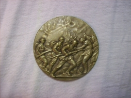 Very rare English medal. Zeldzame Engelse penning met bijzonder fraaie gevechtsscene