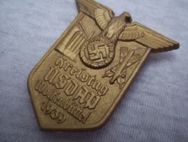 German tinnie, rally badge Duitse tinnie, Kreistag NSDAP Wolfenbütel 1939, plastik uitvoering met hersteller, bijzondere tinnie.