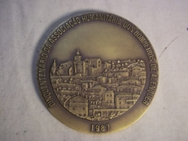 Fire brigade plaque fifty years Spain. Brandweerplaquette penning Spaanse brandweer