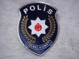 Turkish Police Sleeve badge. Politie embleem Turkije met klitteband.