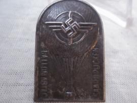 Rare German tinnie, rally badge, Duitse tinnie D.L.V. Ballon Abteilung Saarbrücken, zeldzaam.