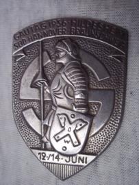 German tinnie, rally badge, Duitse tinnie Gautag 1936 Hildesheim Süd Hannover- Braunschweig 12/14 juni