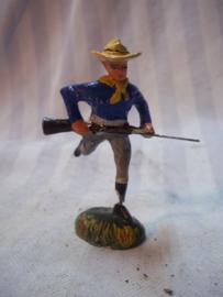 Elastolin, Durso, Lineol, Cowboy met geweer, rennend,