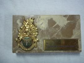 Herinnerings plaat op marmer Portugeese politie, zware kwaliteit