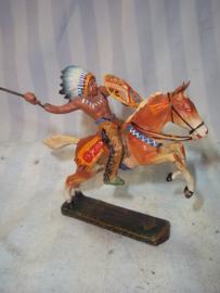 Elastolin, durso lineol indiaan op paard goede staat