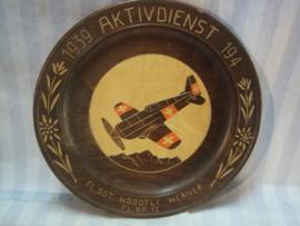 Zwitsers herinnerings bord luchtvaarttroepen.