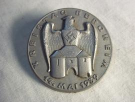 German plastic tinnie Kreistag Bergheim 1939. Duitse tinnie kreistag ,plastik, maker is Steinhauer en Luck in Ludenscheid RZM gemarkeerd