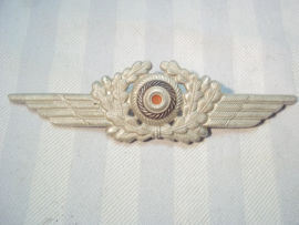 German luftwaffe visor cap wreath & cocarde. Duitse cocarde voor luftwaffe manschappen pet