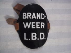 Dutch armband civil defense, firedepartment, Nederlandse armband van de Luchtbeschermings Dienst. BRANDWEER, goede complete staat