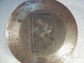 Matrijs voor de bronzen penning gemaakt door Max Blondat d'apres forain. Penning zelf is vrij moeilijk te vinden en is kostelijk, apart ding dus.