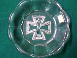A nice glass item with on the bottom the German Iron Cross WW1