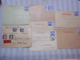 7 German covers with stamps. 7 Duitse enveloppe met stempels en zegels.