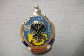 French para badge, Franse borsthanger. 3e Bat. 1993 CCAS  APRONUC  Cambodja