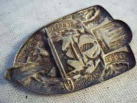 German tinnie rally badge, Duitse tinnie 3. Schwabische Frontsoldatentag, Kriegsopfer ehrentag Türingen 1-8- 1935