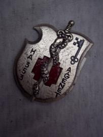 Franse borsthanger Geneeskundige troepen, Medical Corps, Rode Kruis.