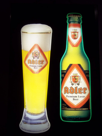 lichtbak ADLER bier, beer advertisment from germany