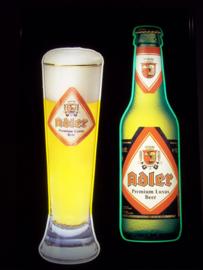 lichtbak ADLER bier, beer advertisment from Belgium. Belgische lichtbak reclame ADLER bier Haacht Belgie.