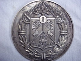 French badge REC. silver. Franse plaquette Regiment Etrangere de Cavallerie plaquette is hol.