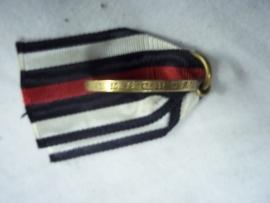 German remembrance medal 1870-1871. Duitse herinneringsmedaille uit de Frans Duitse oorlog 1870, medaille is volgens het randschrift gemaakt van de veroverde kanonnen, eroberte geschutze