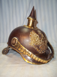 M1889 German Cuirassier helmet, Duitse kurassiershelm en mooi gemarkeerd, reservist.