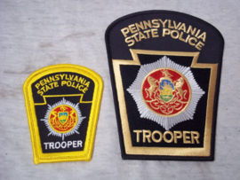 Set Pennsylvania State Police Trooper mouw- en borstembleem.