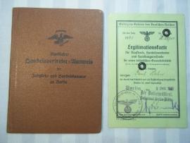 Duitse ID boek met kaart, uitgegeven door de Kamer van Koophandel, zodat je zaken kon doen.