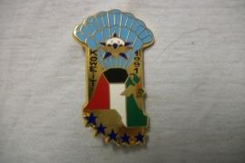 French para badge koeweit 1991, Franse para borsthanger